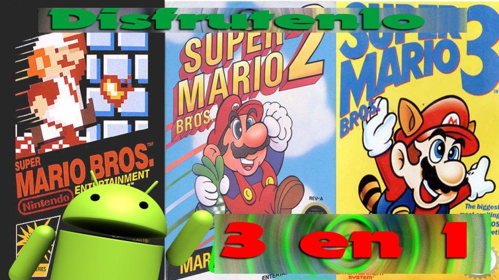 ▷ Descargar Colección de Super Mario Bros 1 2 y 3 En un Solo APK - Android    Emuladores Para Android