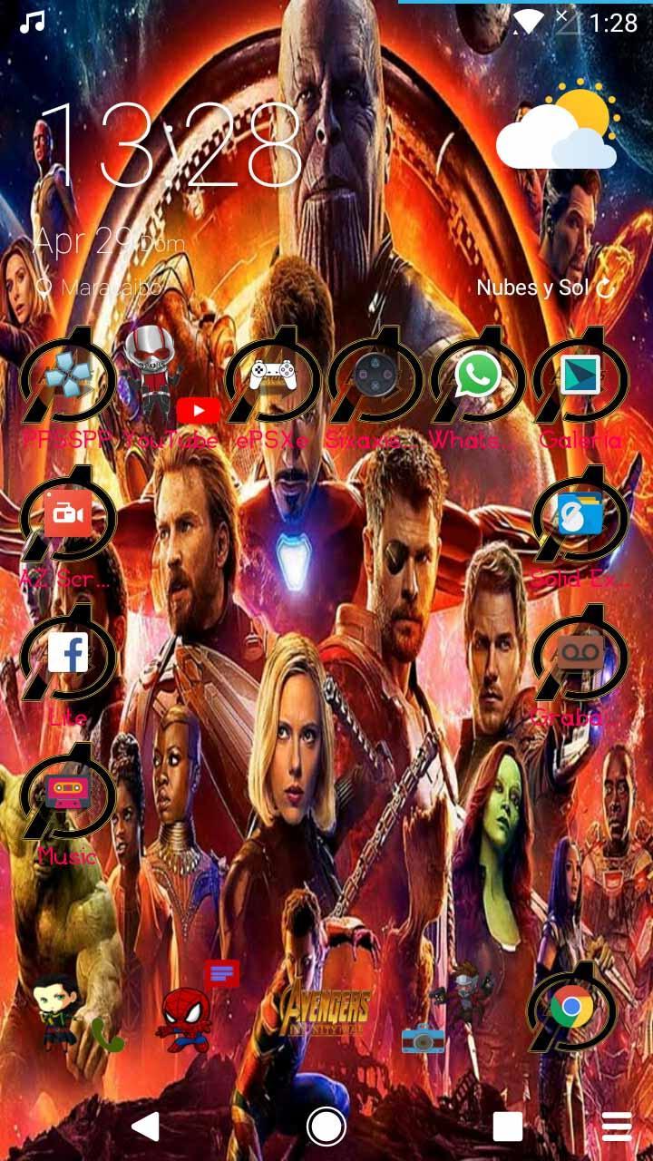 Descargar personalizaci n de avengers infinity war para - Descargar infinity war ...