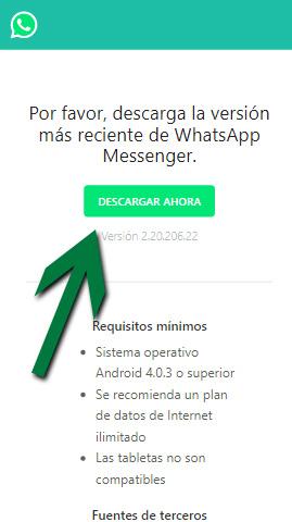 Como Descargar Whatsapp APK sin el play store